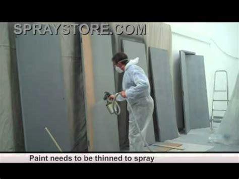 interior house painter glenview spraystore demonstration of hvlp spraying doors youtube