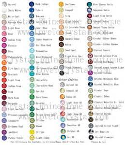 swarovski colors all swarovski rhinestone colors sizes by kitten