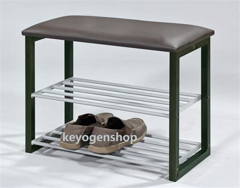 shoe stool bench 2 layer metal steel shoe rack stoo end 11 18 2017 11 15 pm