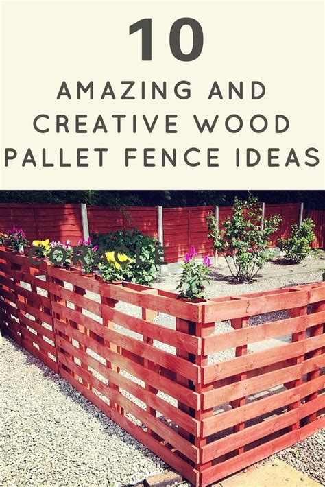 10 amazing and creative wood pallet fence ideas