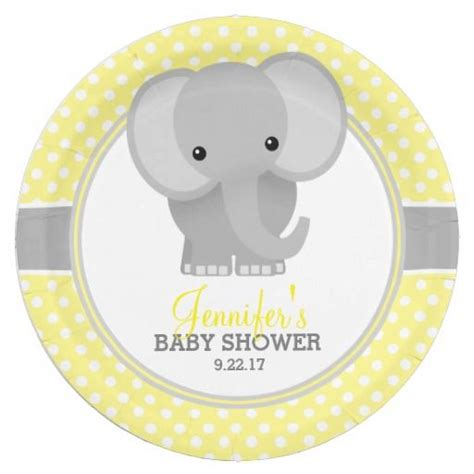 who organises a baby shower baby elephant yellow baby shower paper plate baby