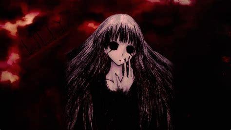 anime girl creepy wallpaper creepy anime girl lilly read description by zibara on