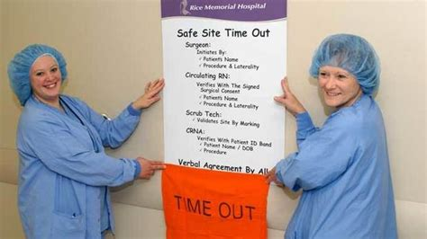 timeout in operating room procedures help providers avoid wrong site surgery west central tribune