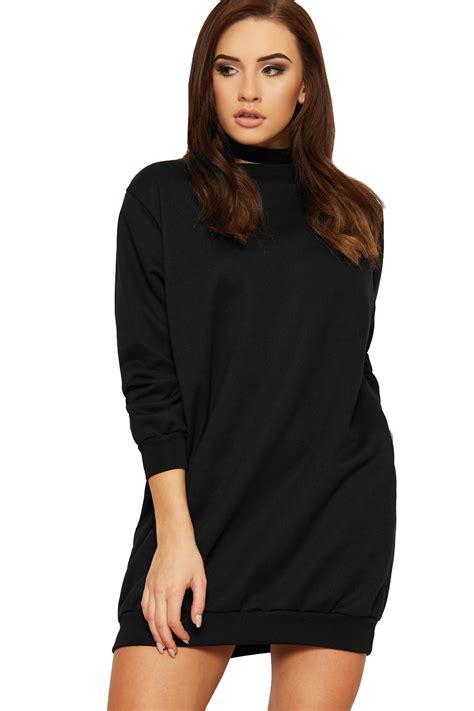 Plain Baggy womens plain baggy sweatshirt dress top baggy