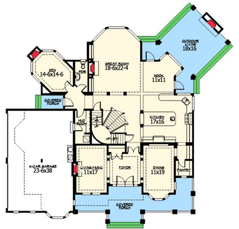 outdoor living floor plans complete with outdoor living room 23360jd 2nd floor master suite bonus room cad available