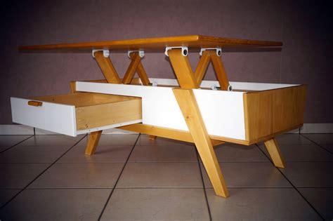 table basse relevable table basse scandinave plateau relevable lift top coffee table scandinavian design