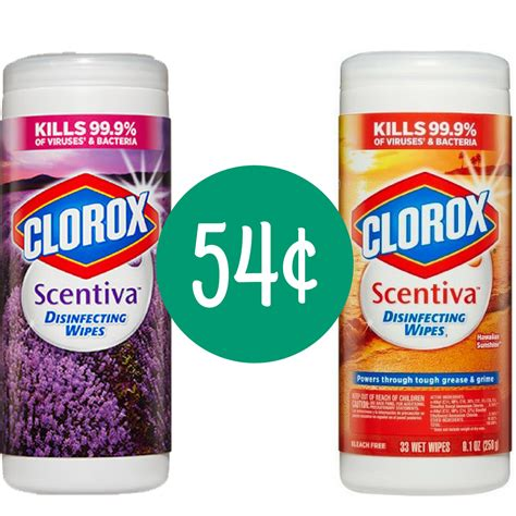 clorox coupon  scentivia disinfecting wipes  southern savers