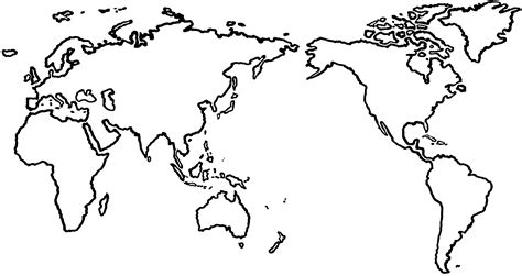 World Map Template by World Map Blank Template