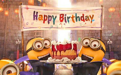 wallpapers  minions birthday party despicable  happy birthday funny minions