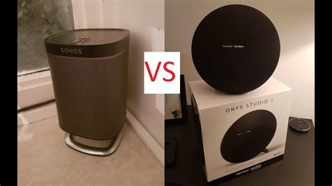 studio four onyx studio 4 vs sonos play 1 youtube