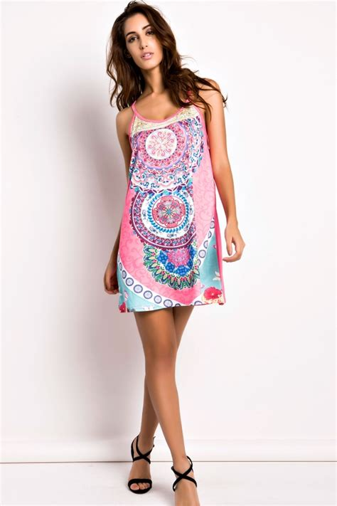 Mini Dress Low Open Back Motif Bunga Floral Hitam Merah floral print open back cami dress on luulla