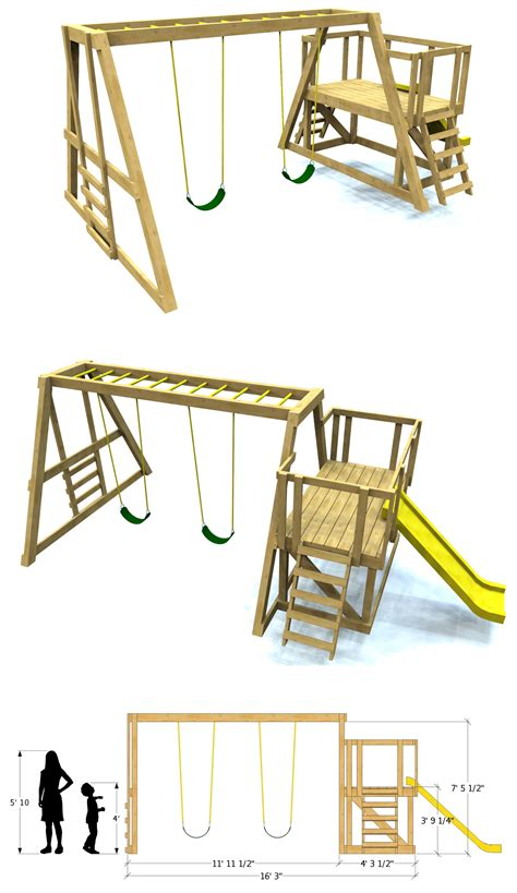 plan set build your own swing set with paul s swing set plan free