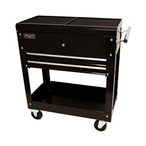 30 drawer slides lowes shop homak 30 in 2 drawer utility cart at lowes
