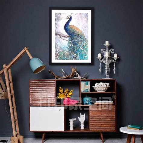 Home Interior Frames Black Wood Photo Frame Wall Print Home Decor Hd Framed Picture Peacock Ebay