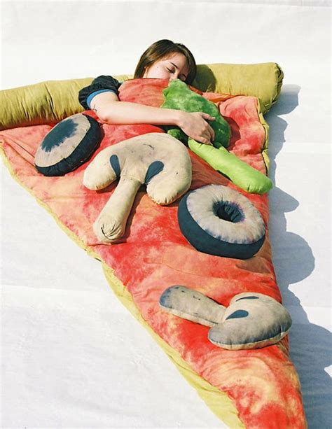 pizza in bed pizza bed sleeping bag