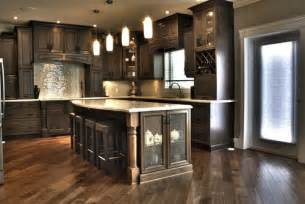 Wood Stain For Kitchen Cabinets What Of Wood Is Used And What Color Is The Stain Also Are The Walls Painted Grey
