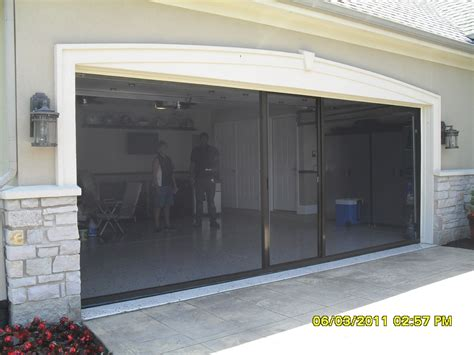 Roll Up Garage Door Screens motorized roll up garage door screen kit
