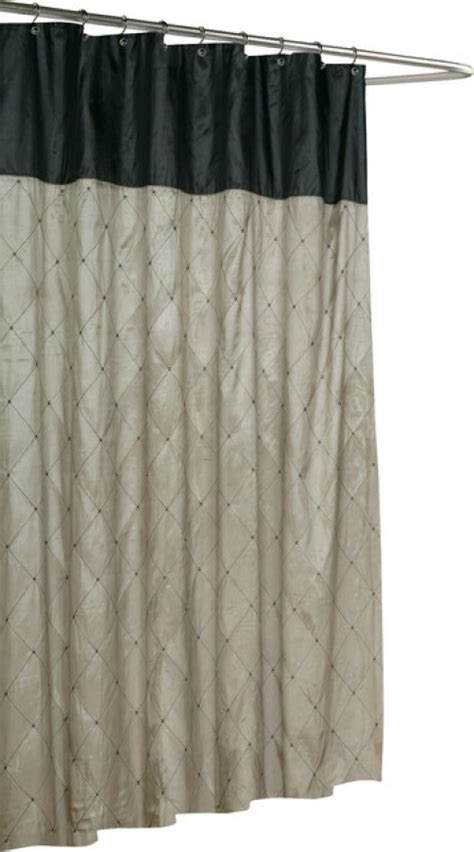 black and tan shower curtain new primitive country black tan crow star patchwork fabric