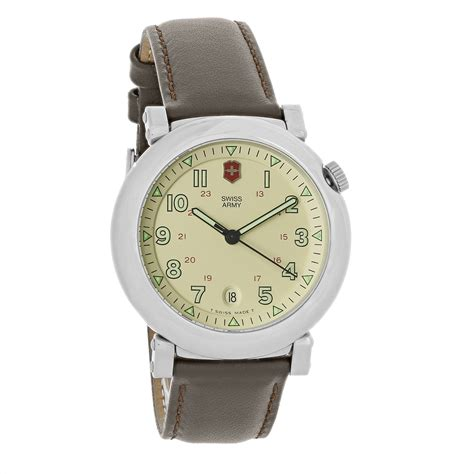 Swiss Army Ba 620 Brown swiss army delta mens ivory tone brown leather swiss