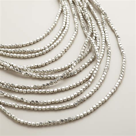 silver multi layer bead necklace world market