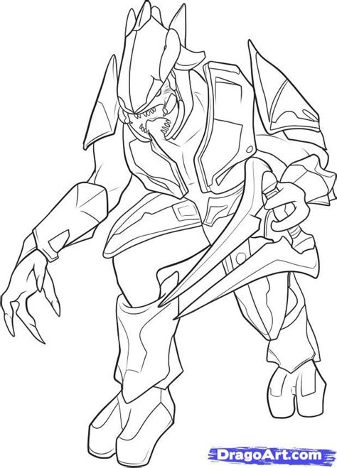 Halo 3 Coloring Pages Master Chief Coloring Pages Color Draw L