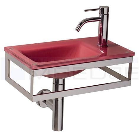 waschtisch glas design g 228 ste glas waschtisch quot pocia quot 45x26cm ruby