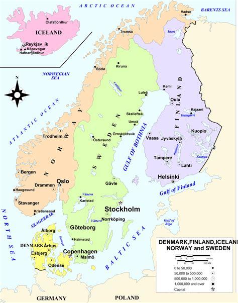 scandinavia map scandinavia