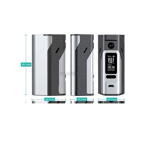 Wismec Reuleaux Rx 23 Mod Rokok Elektrik Authentic Ori 1 authentic wismec reuleaux rx2 3 150 200w tc vw 18650 matte white mod