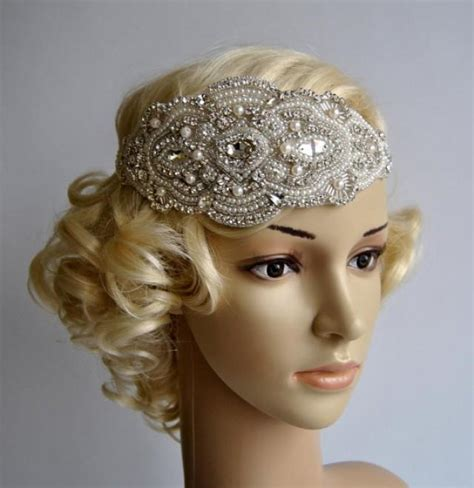 how to make a 1920s hairpiece glamour pearls rhinestone flapper gatsby headband wedding