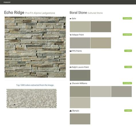 echo ridge pro fit alpine ledgestone cultured boral behr valspar paint ppg