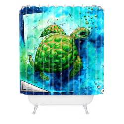 Turtle Shower Curtains Madart Inc Sea Of Whimsy Sea Turtle Shower Curtain Deny Designs Home Accessories