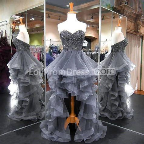 grey long high  prom dresses  sleeveless