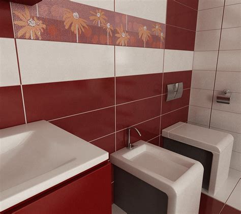 rote fliesen badezimmer bilder 3d interieur badezimmer rot wei 223 baie ral arnisal 4
