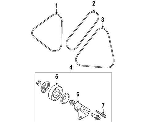 2006 kia spectra belt diagram parts 174 kia spectra belts pulleys oem parts