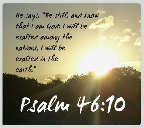 Scripture Memes - psalm 46 10 bible verse meme of the day