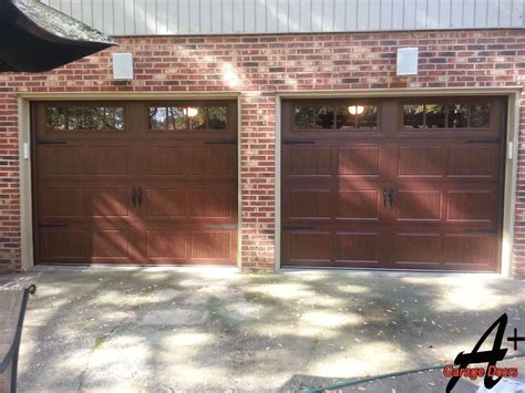 two single garage doors before a plus garage doors gallary pictures photos residential commercial repair