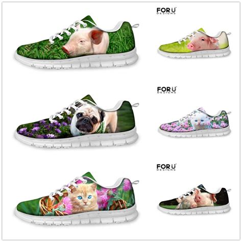 pug athletic pig pug print running shoes shock absorbing sport trainers size ebay