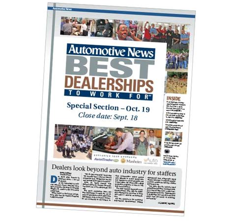 special section 2015 best dealerships to work for automotive news