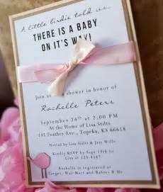 handmade bird baby shower invitations 2 25 via etsy baby showers handmade