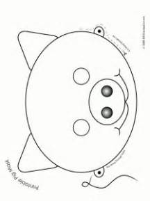 farm animal mask templates best 20 pig mask ideas on