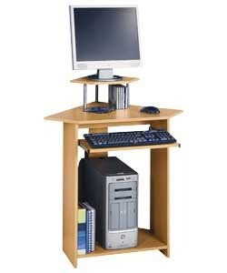 Small Computer Desks Uk Beech Effect Small Corner Computer Desk With Hutch Review Compare Prices Buy