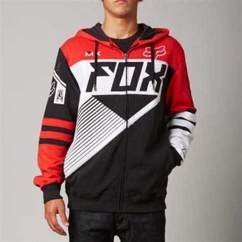 Fox Applique Print Hoodie new fox racing racer zip front hoodie black 06765 122