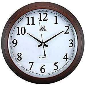 digital wall clock amazon amazon com modern non ticking silent quartz analog
