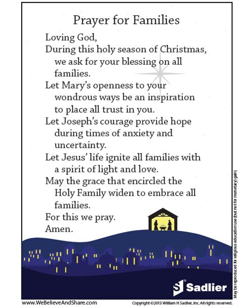 christmas prayer in the school the feast of the holy family usually celebrated on the sunday following marks a time