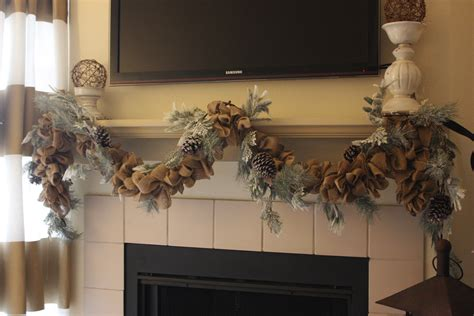 wintery burlap garland how to life in high cotton