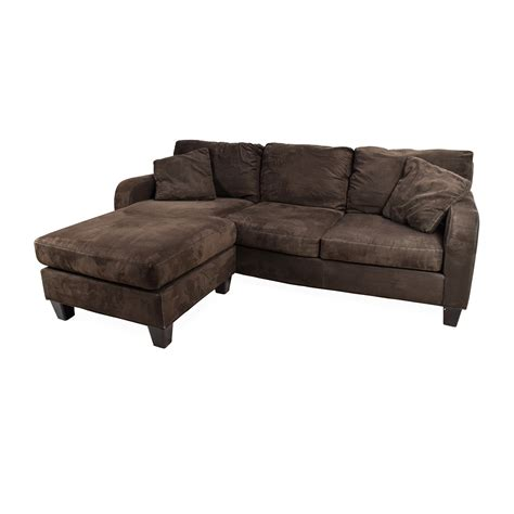 microfiber sofa with chaise cindy crawford bailey microfiber chaise sofa cindy