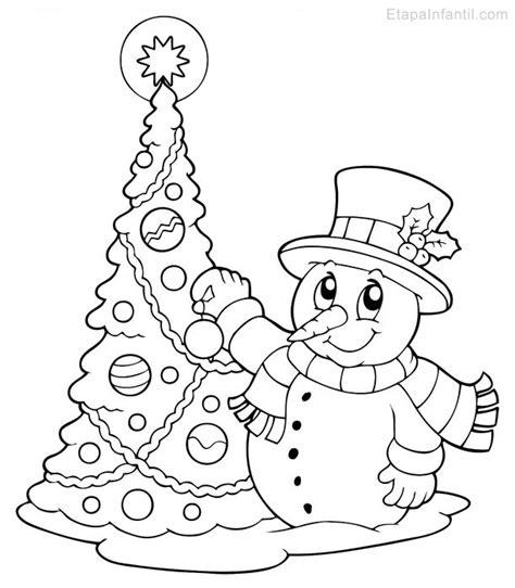 dibujos infantiles para colorear de navidad dibujo de navidad para imprimir y colorear de 193 rbol de