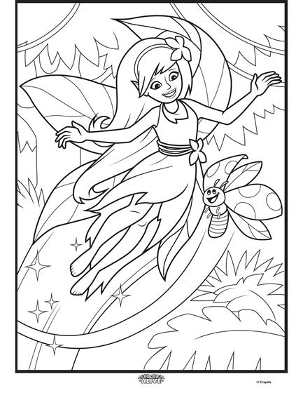 crayola alive coloring pages color alive enchanted forest fairy coloring page