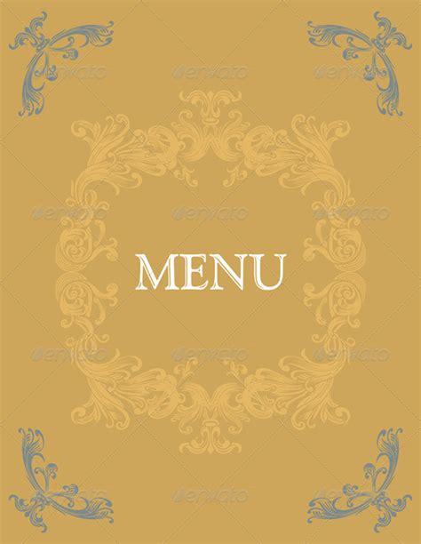 design cover menu vintage menu cover design graphicriver