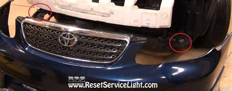 reset maintenance light toyota corolla how to reset the oil change engine maintenance light html